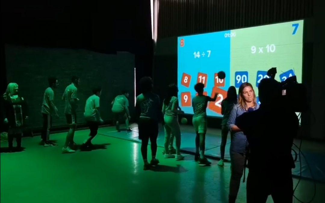Caméras 3D, projections, gaming.. : l'athénée de Fragnée rend sa salle de gym interactive