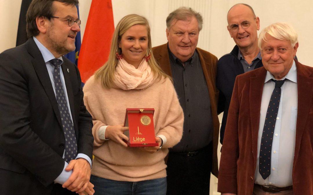 Ysaline Bonaventure citoyenne d'honneur de la Ville de Liège