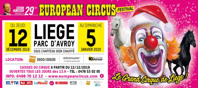 Agenda ► 29ème European Circus Festival – Soirée du réveillon sur notre chapiteau