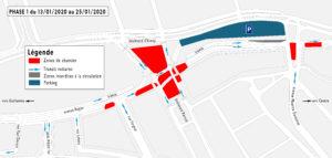 Travaux du tram: la circulation impactée sur le Boulevard d'Avroy