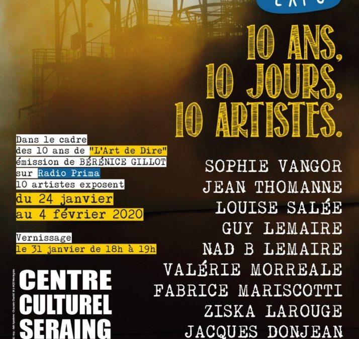 Agenda ► Les 10 ans de L'Art De Dire – Exposition