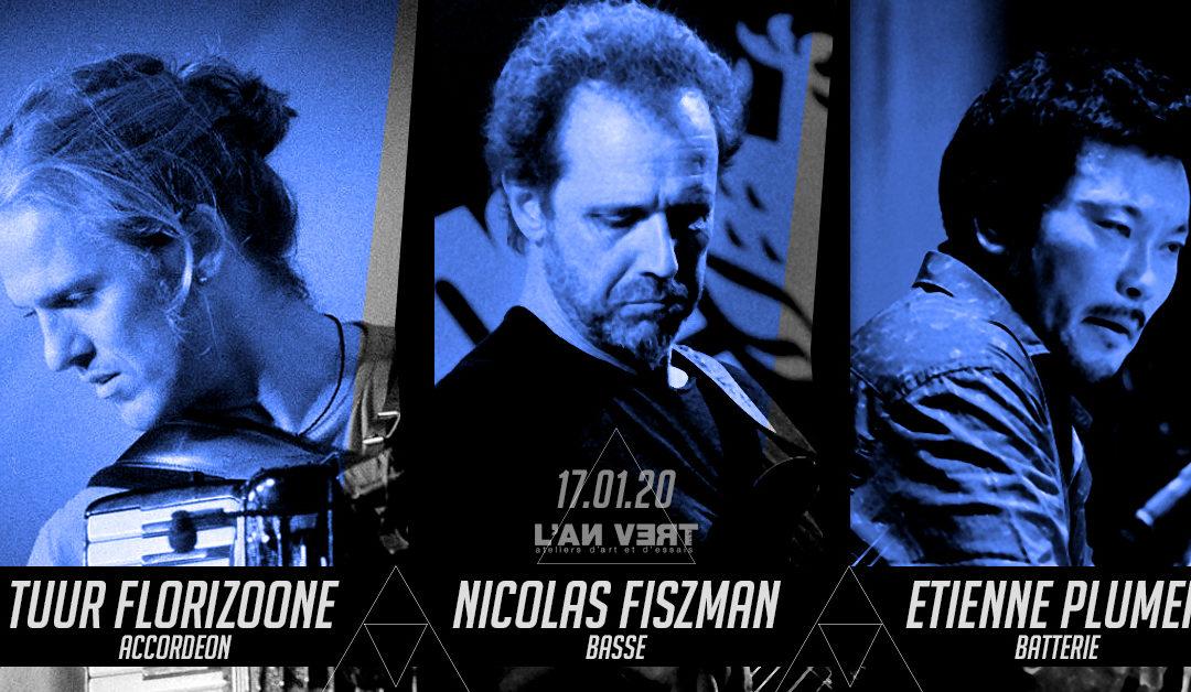 "Agenda ► Tuur Florizoone Trio + Vernissage de l'exposition d'Etienne Plumer : ""VERTIGO"""
