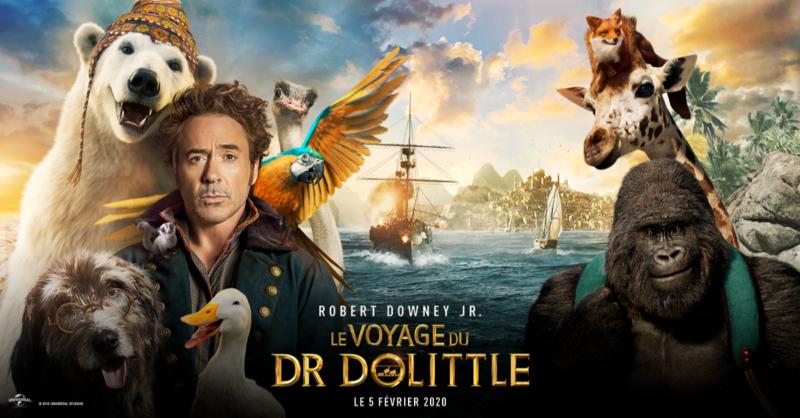 Cinéma : Le voyage du Dr Dolittle