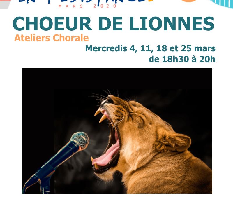 Agenda ► Chœur de lionnes – Ateliers chant/chorale