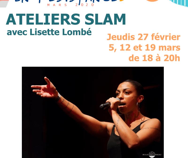 Agenda ► Ateliers SLAM avec Lisette Lombé