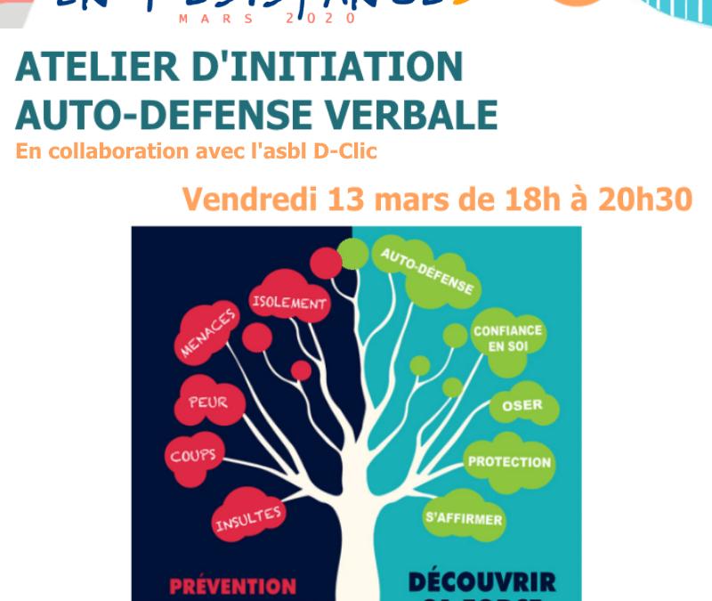 Agenda ► Atelier d'initiation à l'autodéfense verbale