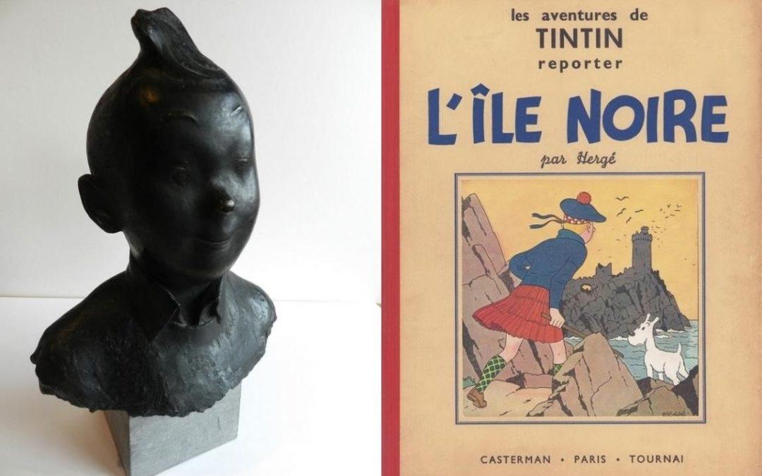 Grande vente de dessins originaux, albums et objets Tintin dont un bronze de 35.000€