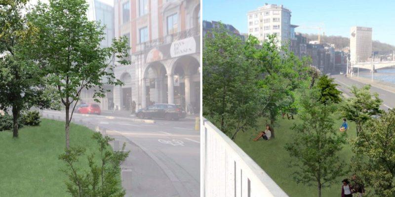 Une forêt urbaine de 10.000 mètres carrés sur les places Cockerill et du XX Août ?