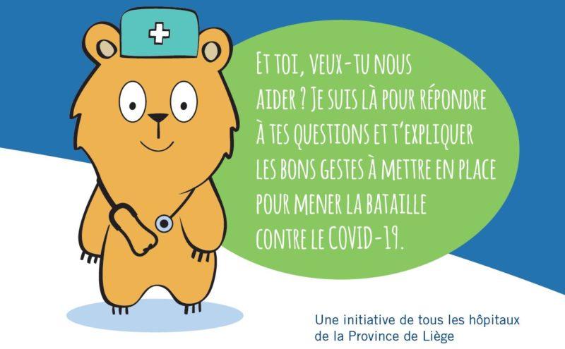 Une brochure des hôpitaux liégeois pour expliquer le coronavirus aux enfants