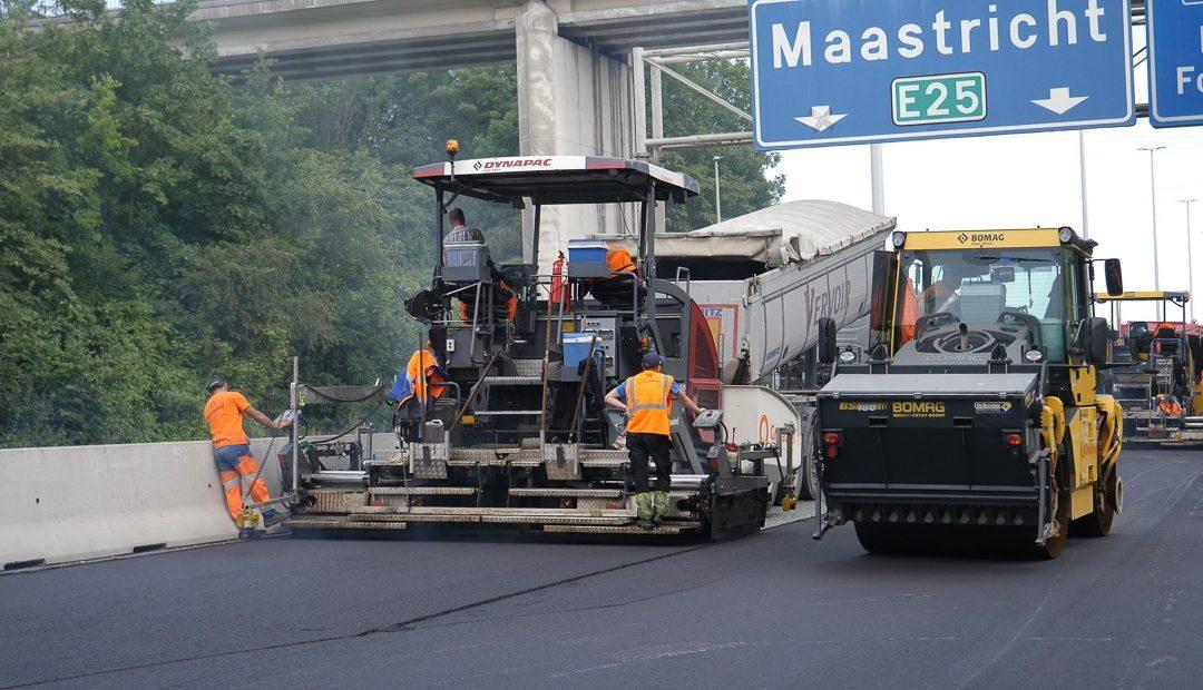 Libération des voies réhabilitées entre Cheratte et Visé sur la E25/A25