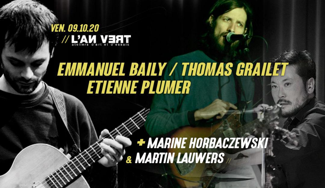 Agenda ► Emmanuel Baily / Thomas Grailet / Etienne Plumer + guests
