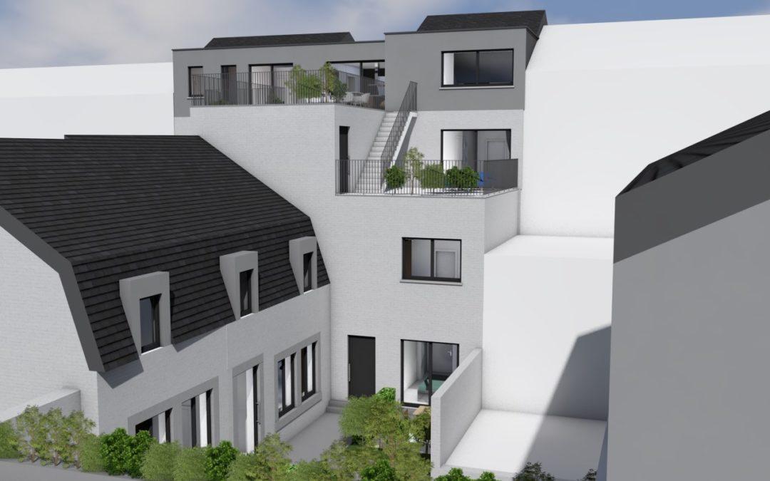 Nouveaux immeubles en Féronstrée et rue de la Rose