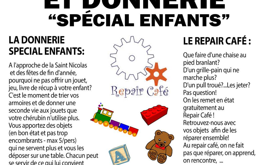 """Agenda ► Repair café et donnerie spéciale """"Enfants"""""""