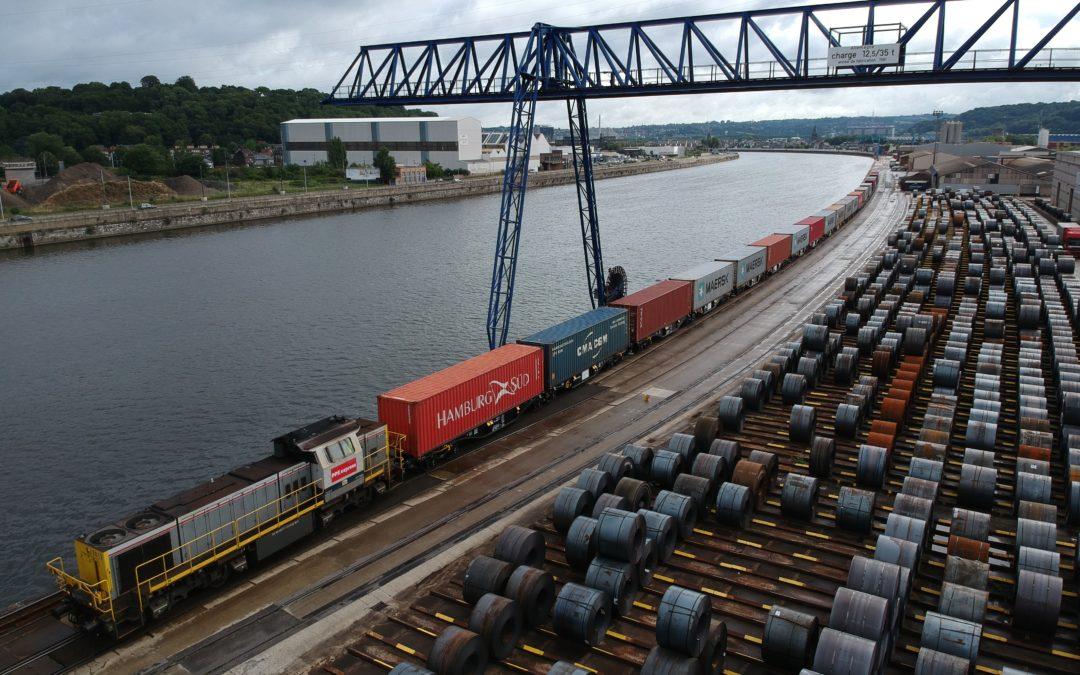 Un train chinois de marchandises arrive chaque jour au port de Renory