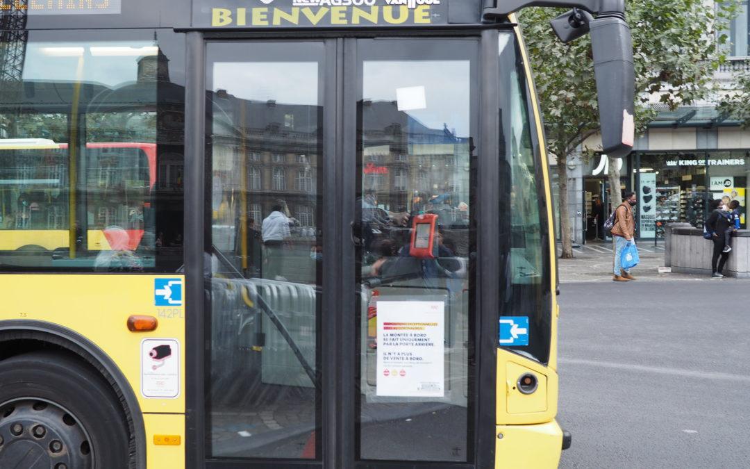Déviations des derniers bus et report d'arrêts pour les lignes 1 et 4 place Saint-Lambert