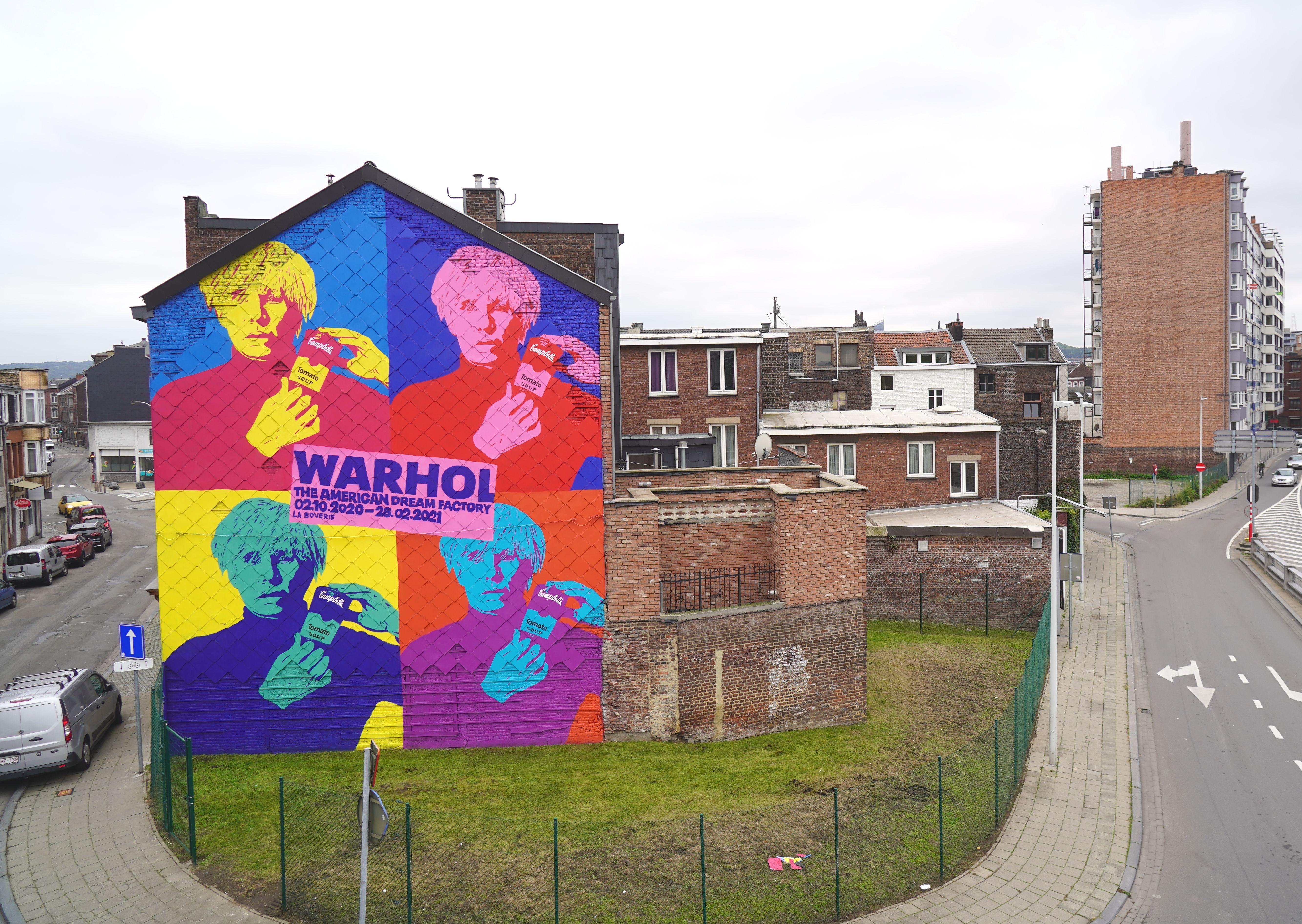 Nouvelle fresque monumentale en hommage à Andy Warhol