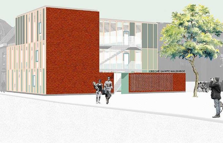 La nouvelle crèche de Sainte-Walburge pourrait accueillir les enfants cet été