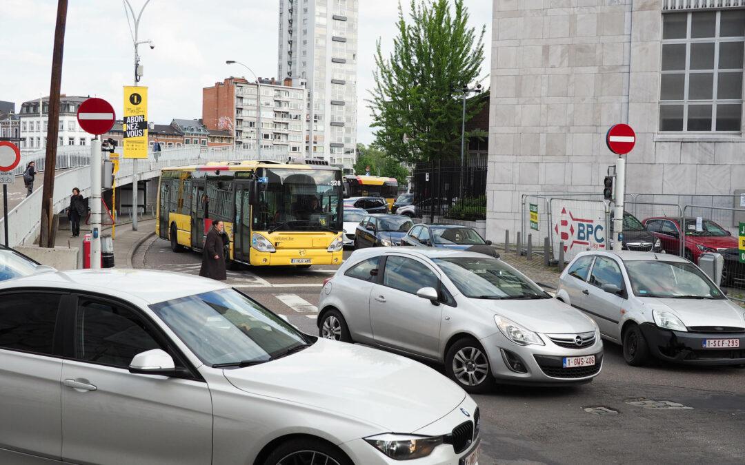 Les mesures Covid ont eu une incidence sur les embouteillages à Liège