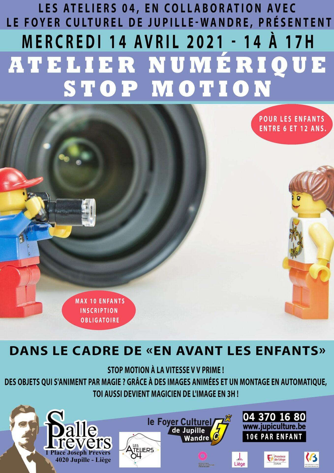 Atelier numérique - Stop motion à la vitesse v v prime !