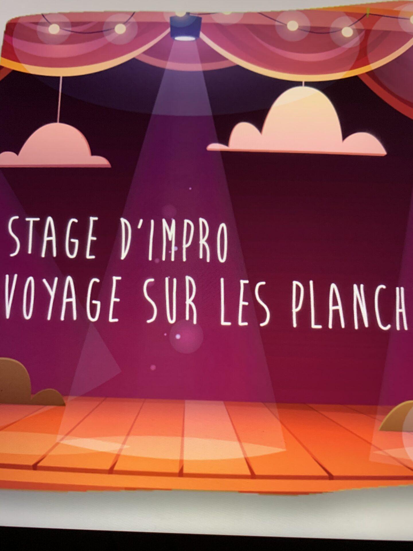 Stage d'impro : Voyage sur les planches