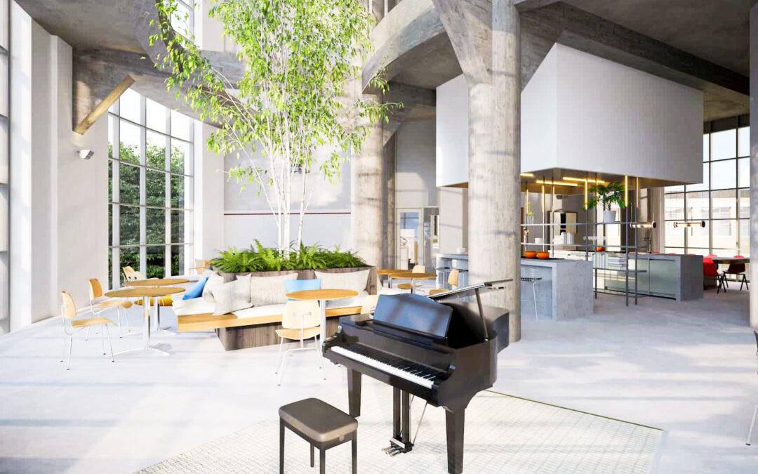 De luxueux lofts en coliving proposés à la location sur le site du Val-Benoît