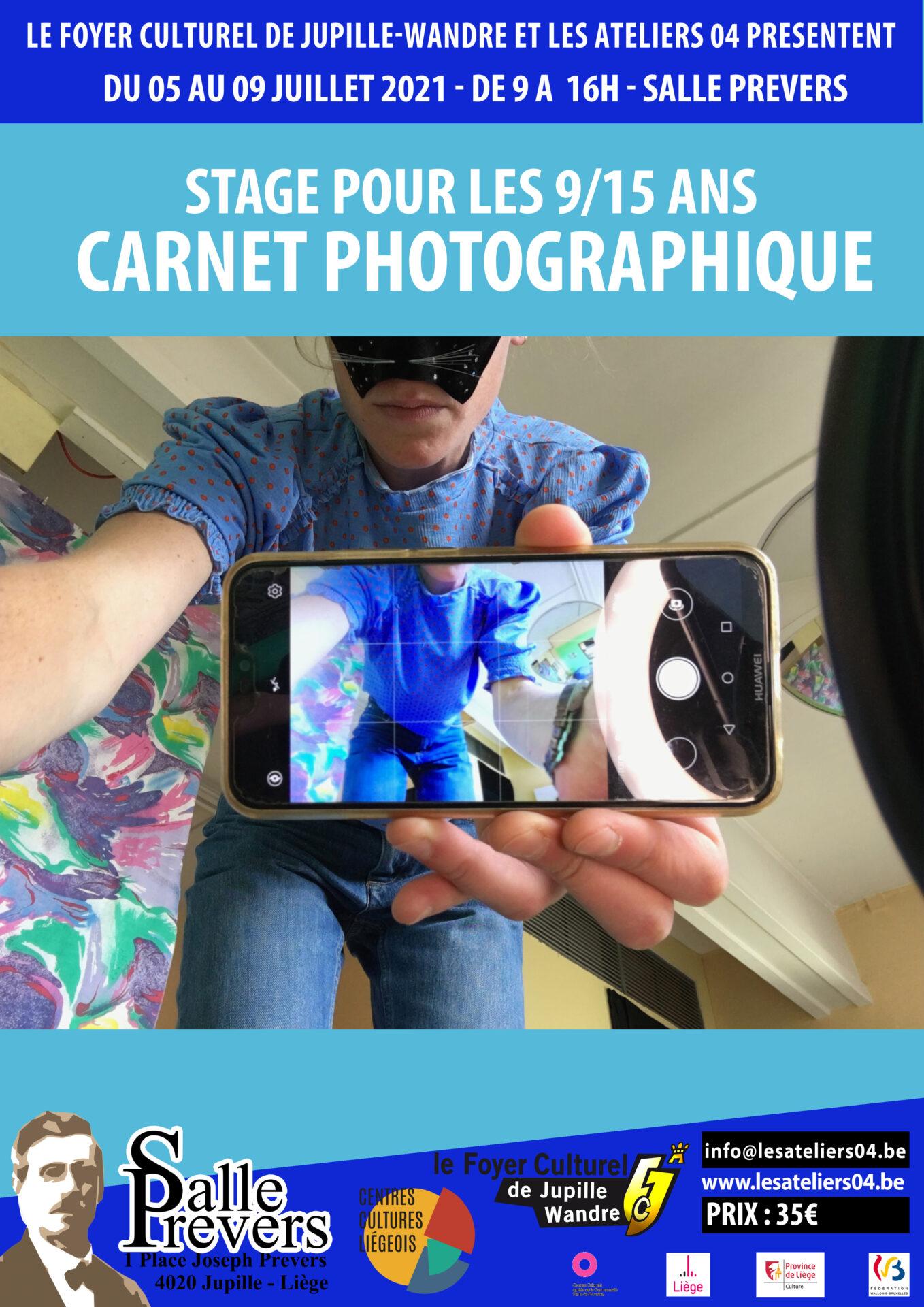 Carnet photographique - Stage pour les 9/15 ans
