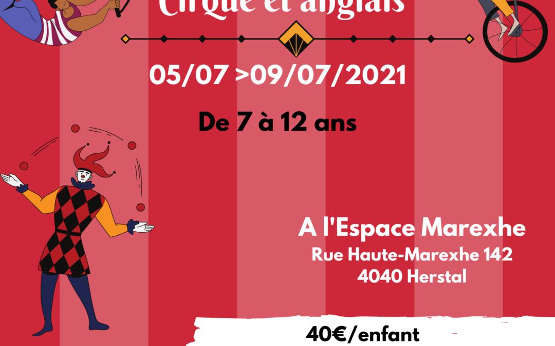 Agenda ► STAGE DE 7 À 12 ANS – CIRQUE ET ANGLAIS