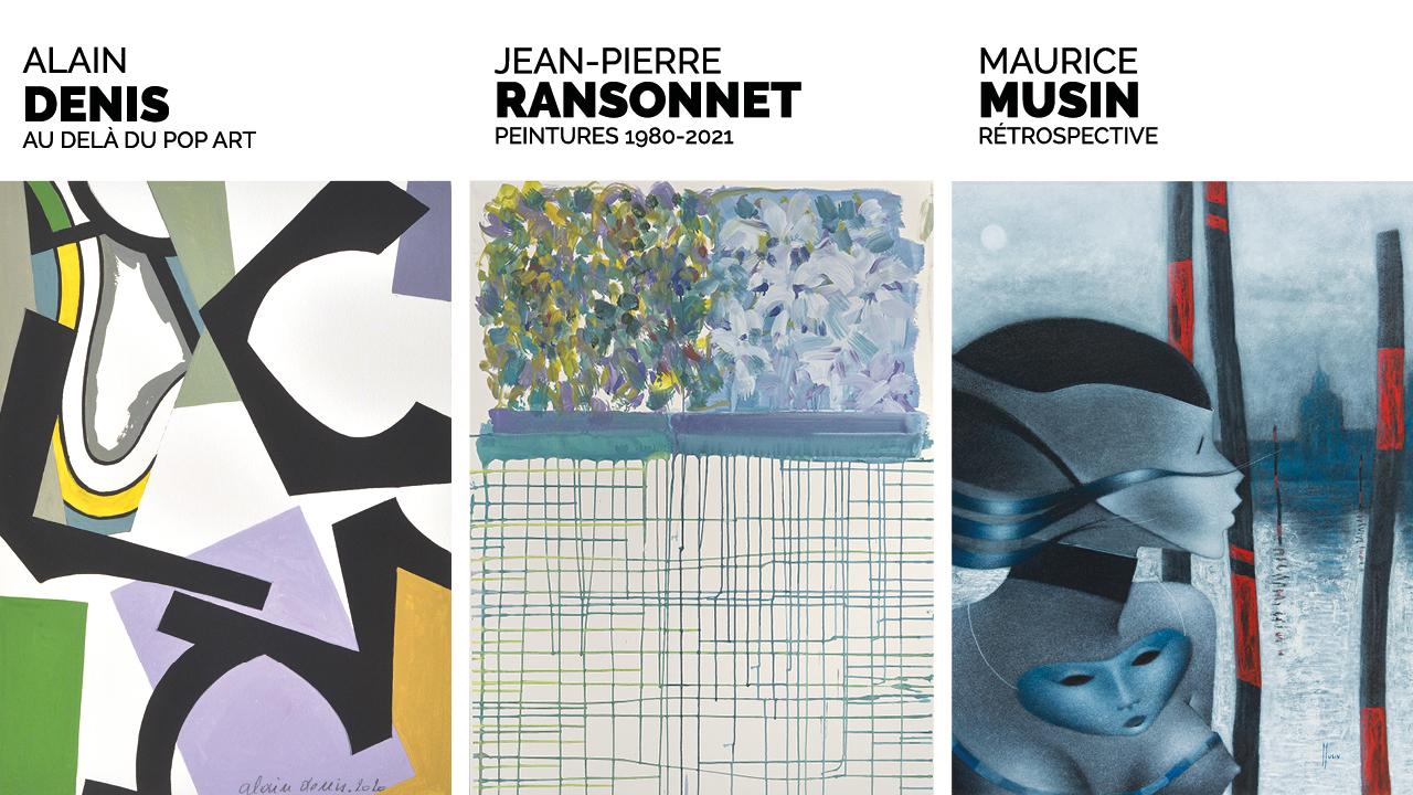 La Boverie présente : Alain Denis, Jean-Pierre Ransonnet, Maurice Musin