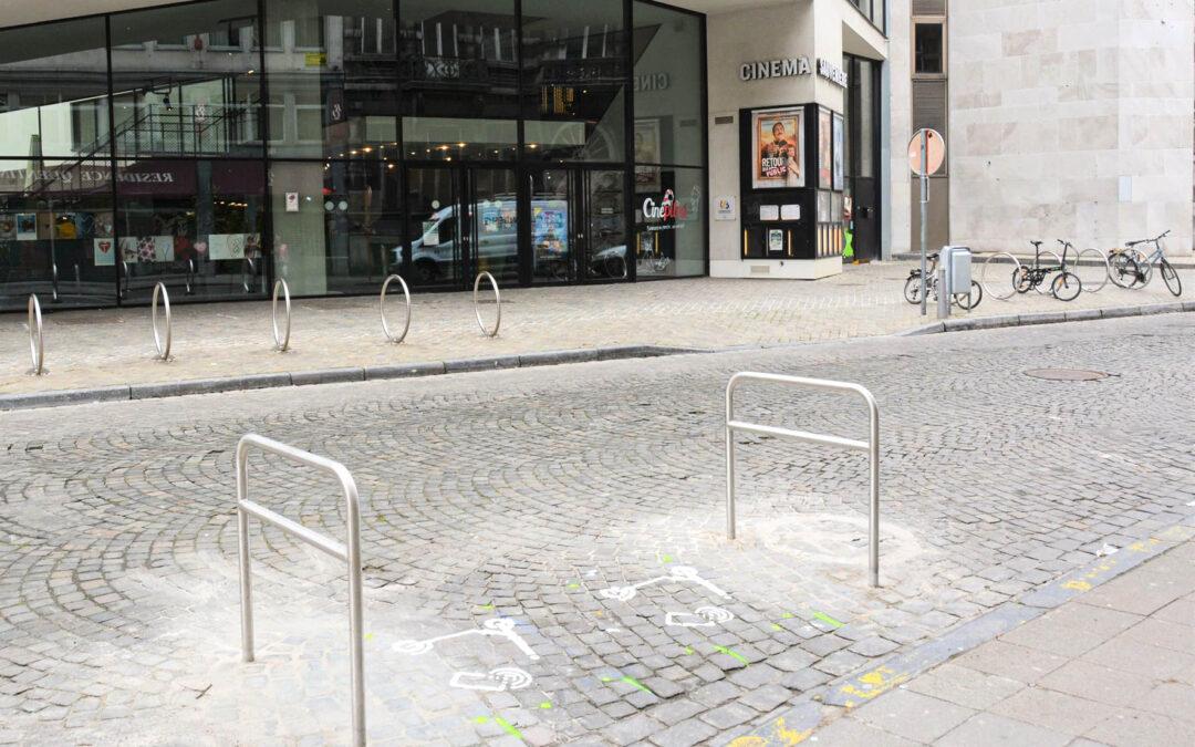 Des emplacements de parkings pour trottinettes au centre-ville:  les premiers en Wallonie