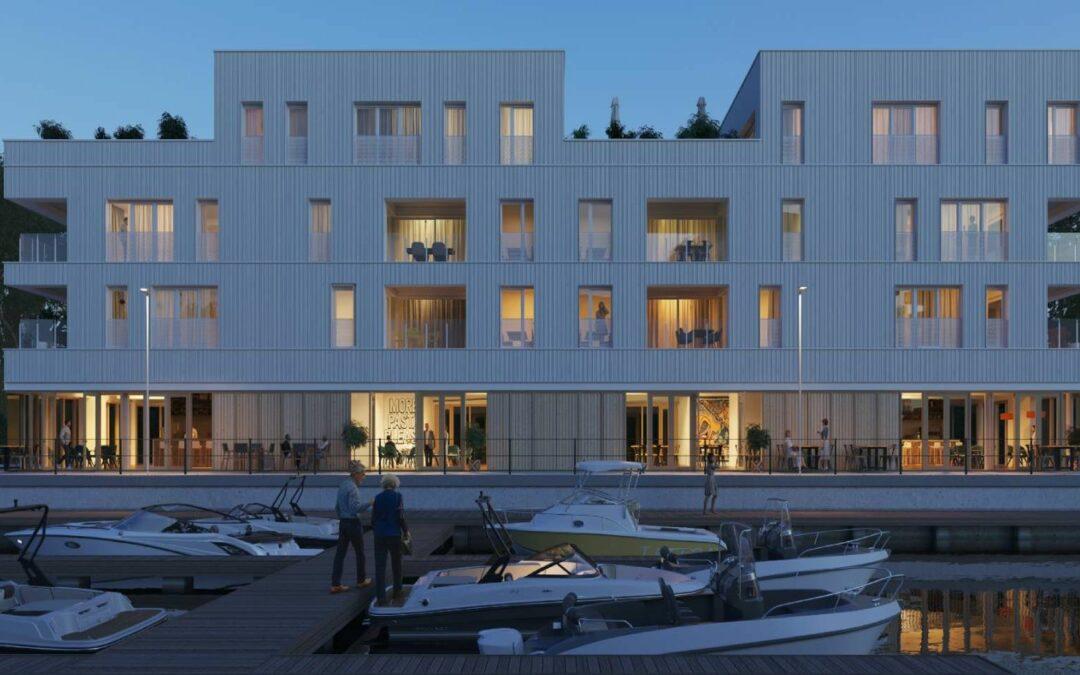 Coronmeuse: les futurs appartements au bord de l'eau avec vue sur le port vendent du rêve