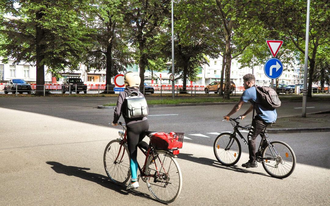 Le site propre des bus boulevard d'Avroy va devenir une piste cyclable