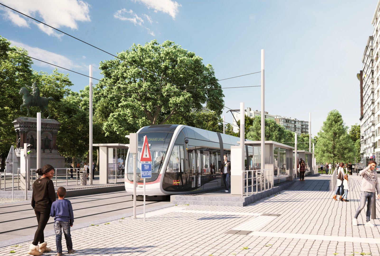 Il ne faudrait  pas que le retard du chantier du tram compromette la deuxième ligne entre Herstal et Seraing