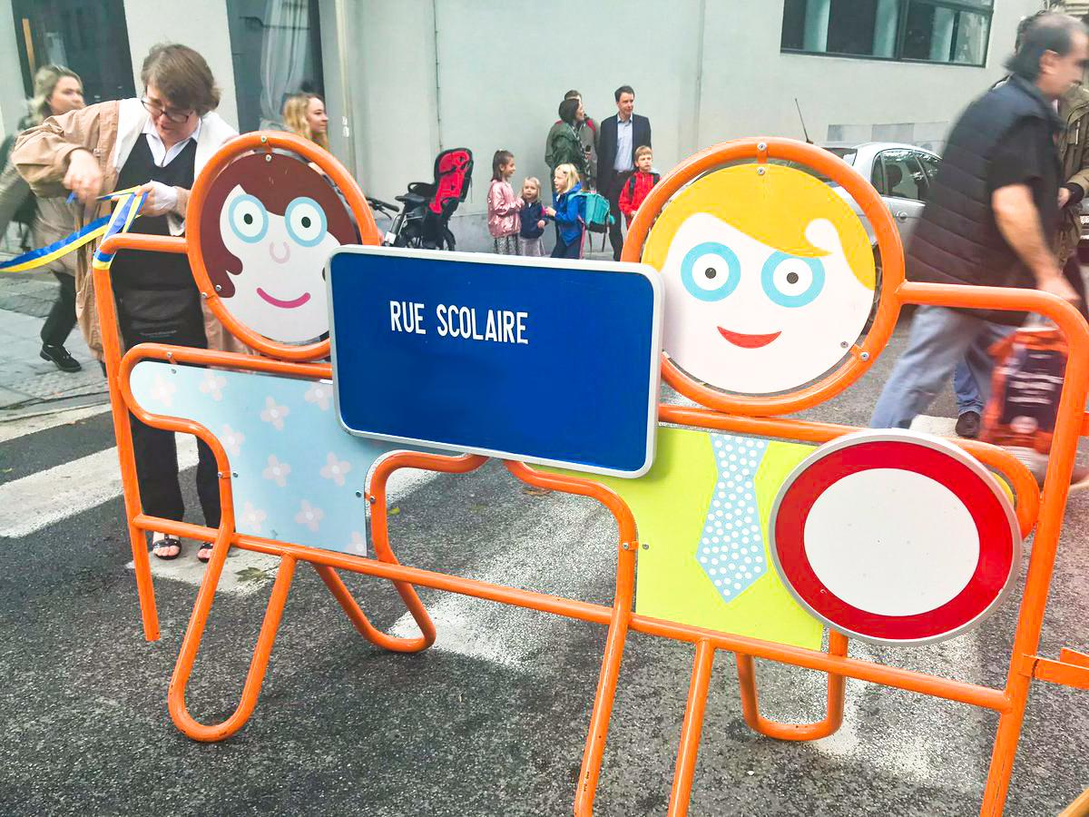 """Une première """"rue scolaire"""" sera mise en place à Liège dans les prochaines semaines"""