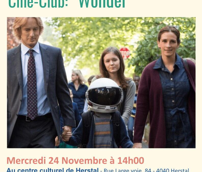 "Agenda ► Ciné-club ""Wonder"""